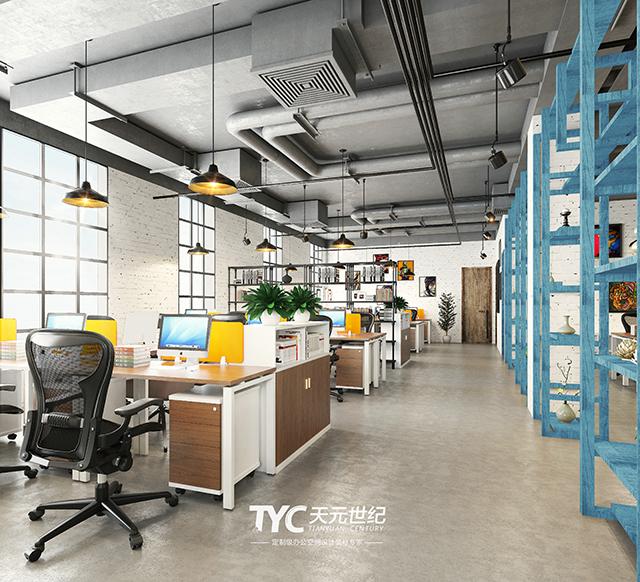 米兰春天·工业风办公室装修设计|工业风也能盛开出春天